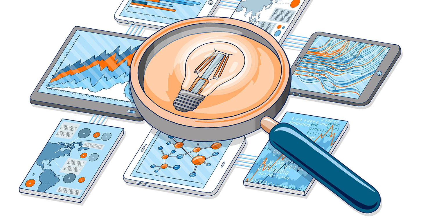 Elsevier editorial illustration - Analytical Services