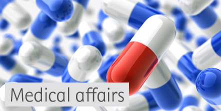Image with pills for medical affairs