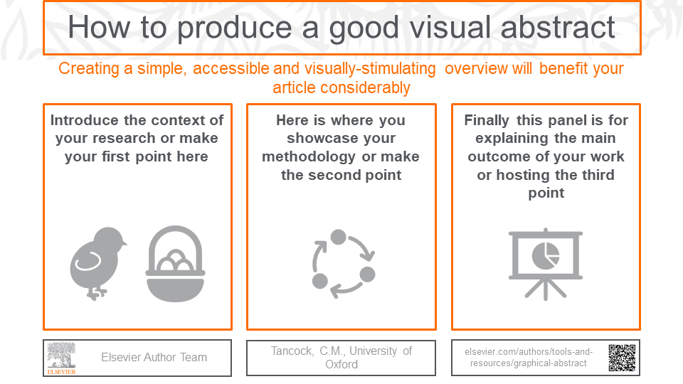 Visual abstract template