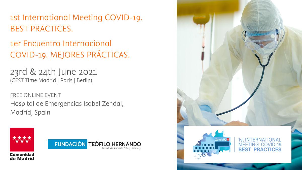 Expertos internacionales comparten su experiencia en el I Encuentro Internacional COVID-19. Mejores prácticas
