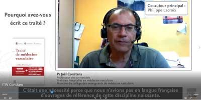 Interview du Pr. Joël Constans, coauteur du Traité de médecine vasculaire