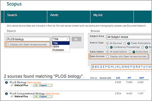 Finding open-access journals on Scopus keeps getting easier
