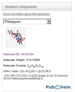 Figure 9. An example of the PubChem Compound Viewer.