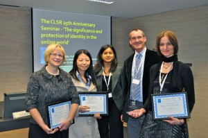 Best paper award winners at a CLSR international conference