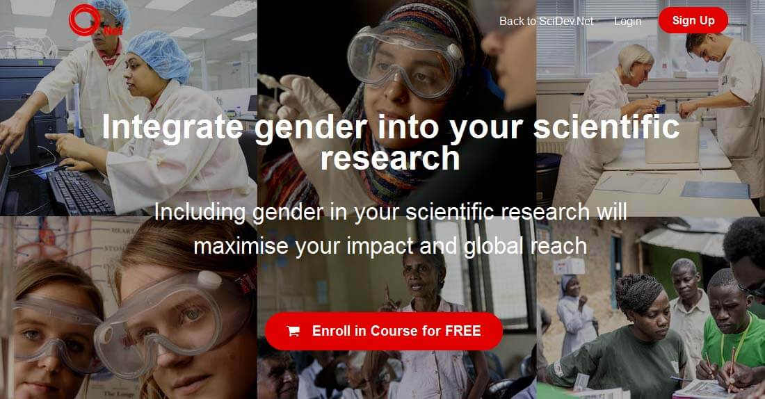 "Free online course: ""Integrating gender into your scientific research"""