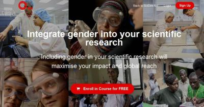 """Free online course: """"Integrating gender into your scientific research"""""""