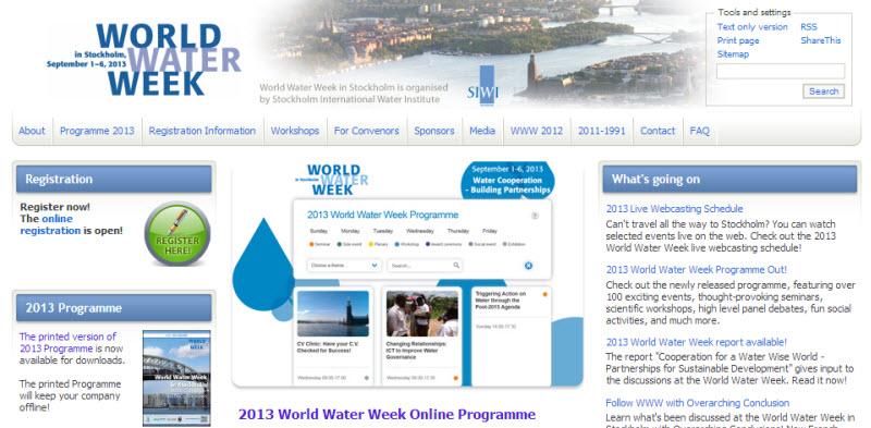 World Water Week 2013