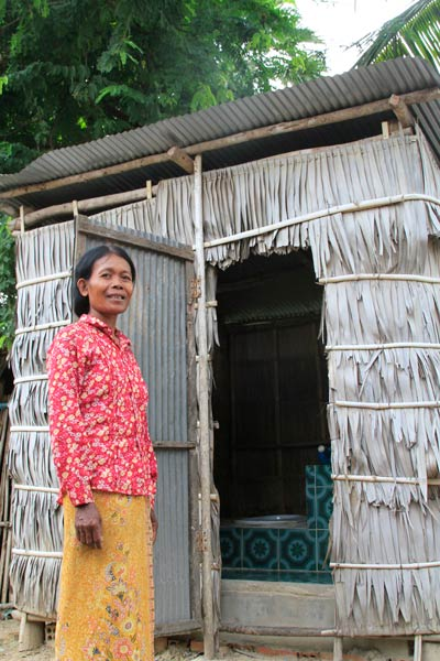 """Introduction of Improved Toilet Shelters for Increased Sanitation Coverage"" (Photo courtesy of WaterSHED)"