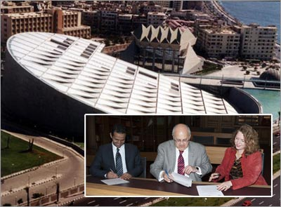 Dutch Royal Tropical Institute 'passes the baton' to the Library of Alexandria in Egypt