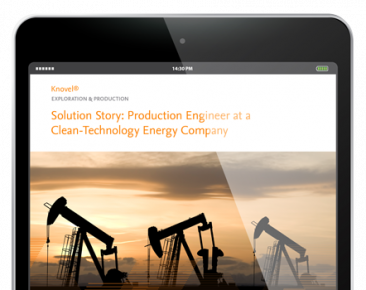 Production Engineer at a Clean-Technology Energy Company - Knovel Customer Story | Elsevier Solutions