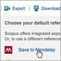 Exporting to Mendeley from Scopus and ScienceDirect
