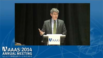 Watch a video of the presentation at the end of this report. Pictured here is Carl Zimmer.