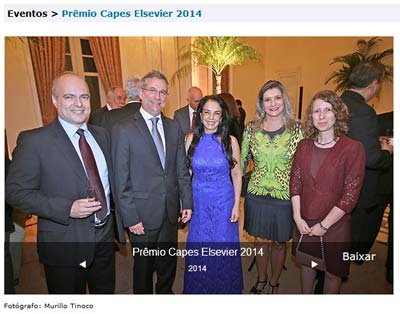 Elsevier's webpage for the 2014 CAPES-Elsevier Awards