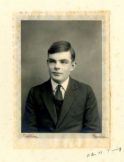 A young Alan Turing