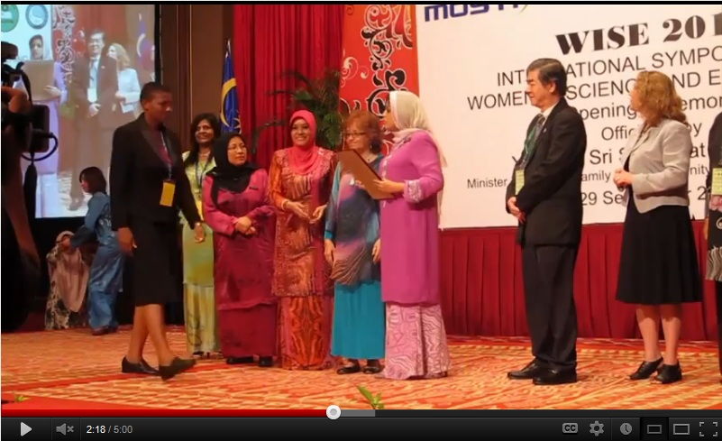 A new international awards program recognizes the research achievements of early-career women scientists from developing nations with low scientific output in Africa, the Middle East, Asia, Latin America and the Caribbean. This is a video about a similar program the organizations ran in 2010 and 2011.