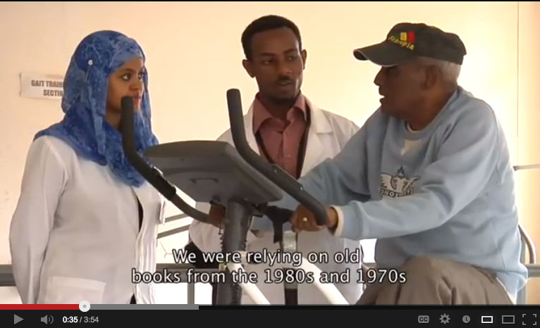 In Ethiopia, physiotherapist Mulugeta Bayisa shows the impact of Research4life on the community
