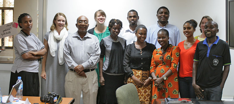 Publishing professionals in Tanzania after the first training session. (Photo by Maaike Duine)