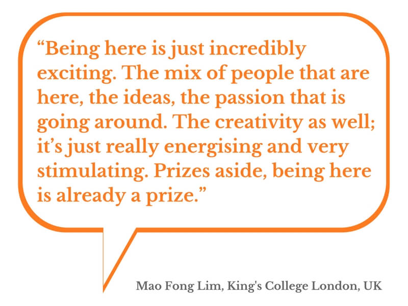 Quote from medical student Mao Fong Lim about the hackathon