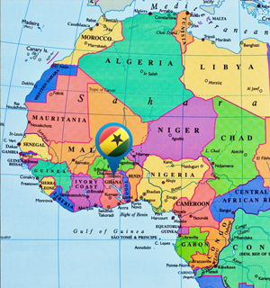 Map Of Africa Showing Ghana.Atlas Award Ghana As A Case Study For Whether A Green Revolution Is