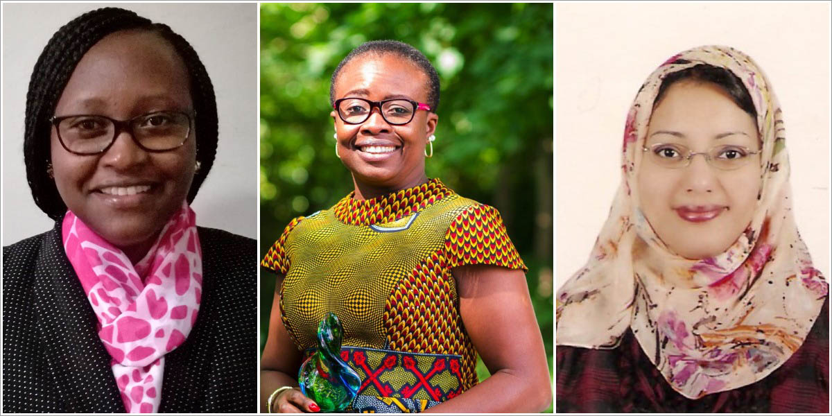 Chioma Chikere, PhD, Senior Lecturer at the University of Port Harcourt, Nigeria; Hannah Karuri, PhD, Lecturer at the University of Embu, Kenya; and Rabab El-Sherif, PhD, a Professor at Cairo University in Egypt, share their experiences as women in STEM.