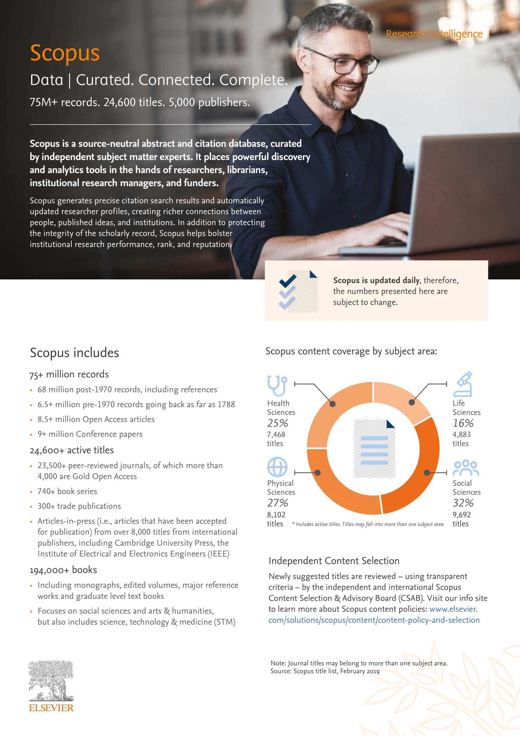 Scopus Fact Sheet | Elsevier