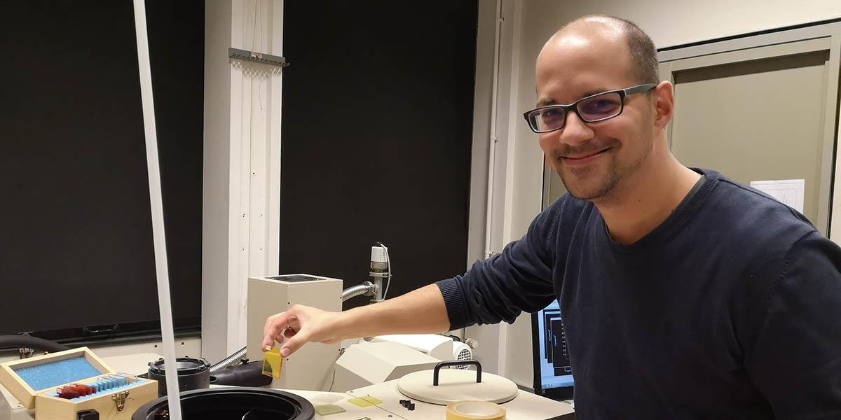 Markus Suta in lab