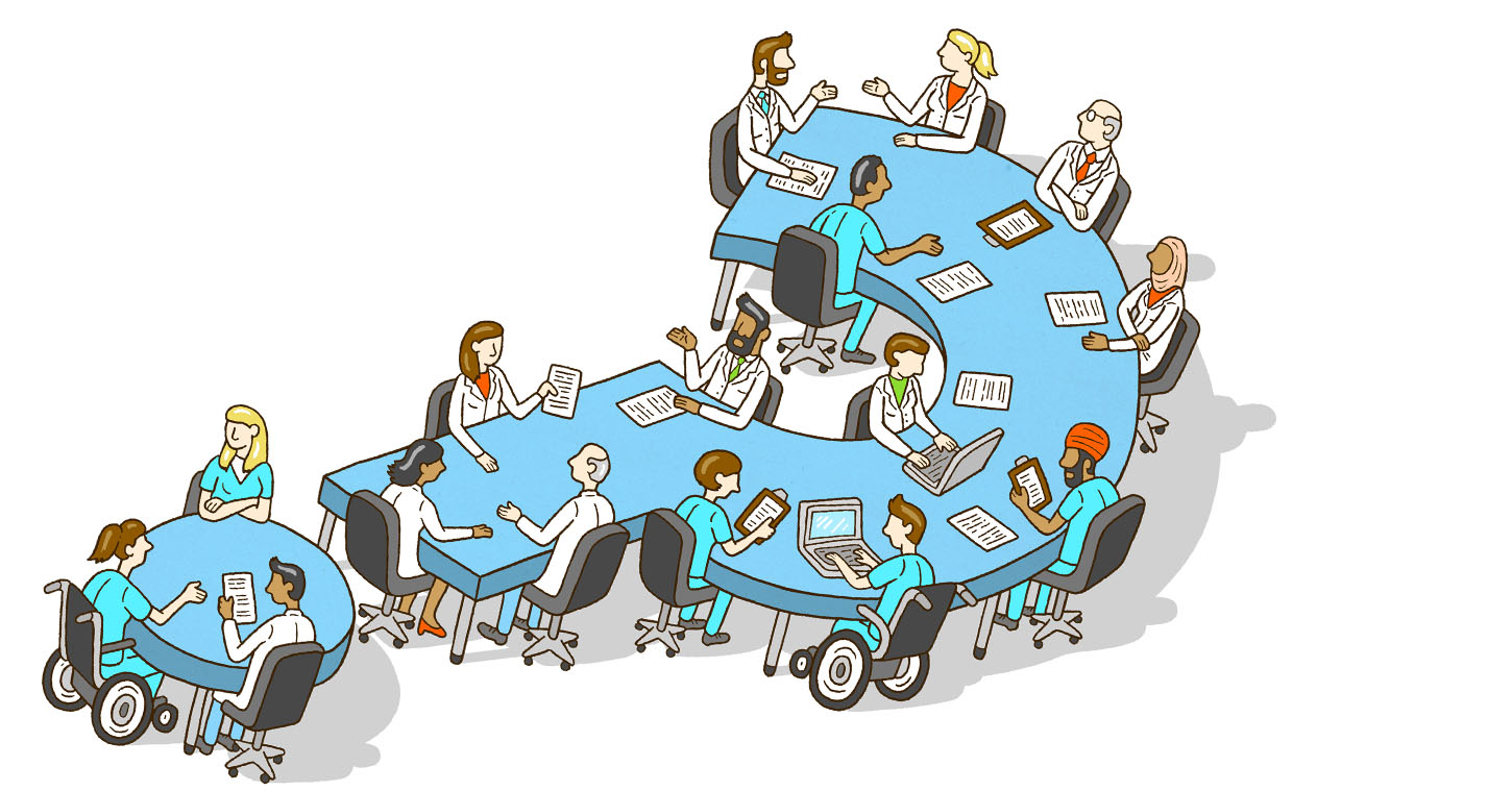 Elsevier health management illustration