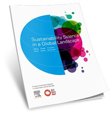 Cover of the 2015 sustainability science report by Elsevier and SciDev.net