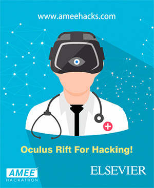 Oculus Rift promotional poster for AMEE Hacks