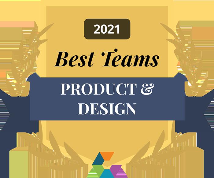 Elsevier Best Product Design Teams 2021 Award