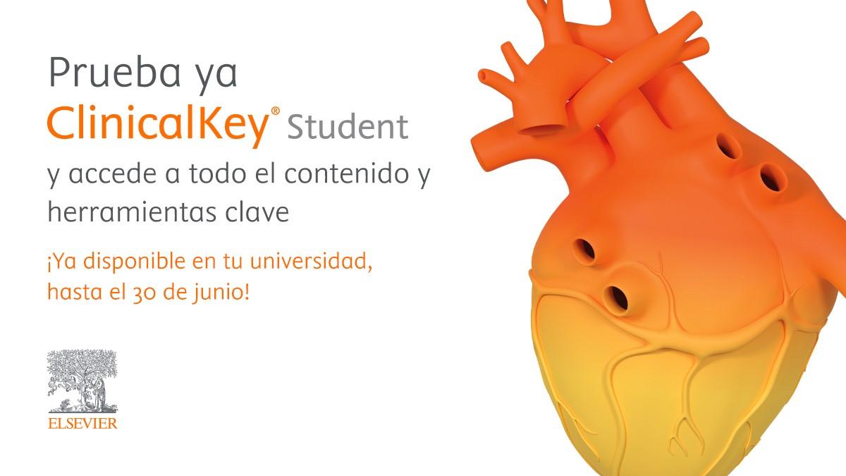 Elsevier activa una treintena de trials gratuitos de ClinicalKey Student en universidades españolas