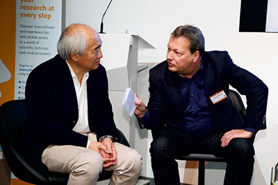 Kenneth Chien, Professor at the Karolinska Institute in Stockholm and biotech entrepreneur at Moderna Therapeutics, fostered an inspiring, high-level discussion, here with Prof. Thomas Sommer, acting Director of the MDC, Berlin.