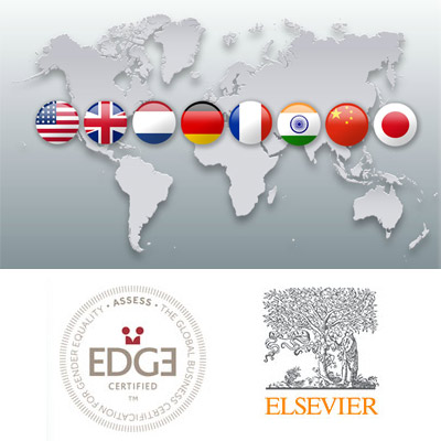 Elsevier has earned EDGE Assess certification across its eight core business operations.