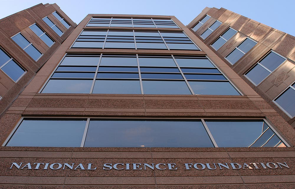 For a global perspective on science and engineering research, the National Science Foundation used Scopus. (Photo of the National Science Foundation building in Arlington, Virginia, by NSF)