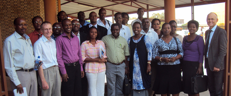 Participants and facilitators of the Evidence-Based Healthcare workshop in Burundi