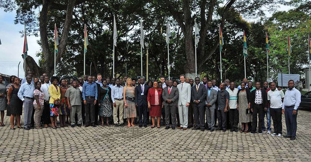 Participants at the opening ceremony, which also included many of the Premphe II Library staff. (Photo: KNUST)
