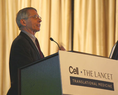 Dr. Anthony Fauci gives the keynote speech. (Photo by Mary Beth O'Leary)