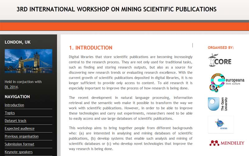 3rd International Workshop on Mining Scientific Publications