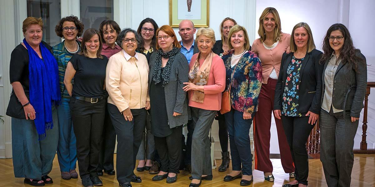 Participants of the GenderInSITE-Elsevier Foundation workshop in Buenos Aires (left to right): Louise Morley, María Bustelo, Eve Langelier, Judith Zubieta, Alice Abreu, Mary Murphy, Liisa Husu, Maxime Forest, Gloria Bonder, Rachel Palmen, Beatriz Macedo, Zelmira May, Lecia Barker and Annalissa Murgia.