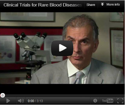 In this video by the National Heart, Lung, and Blood Institute of the National Institutes of Health, Dr. Neal Young talks about the importance of conducting and taking part in clinical trials and explains the difference these studies have made in the lives of people with rare blood and bone marrow diseases,   such as aplastic anemia. (Video courtesy of NHLBI)