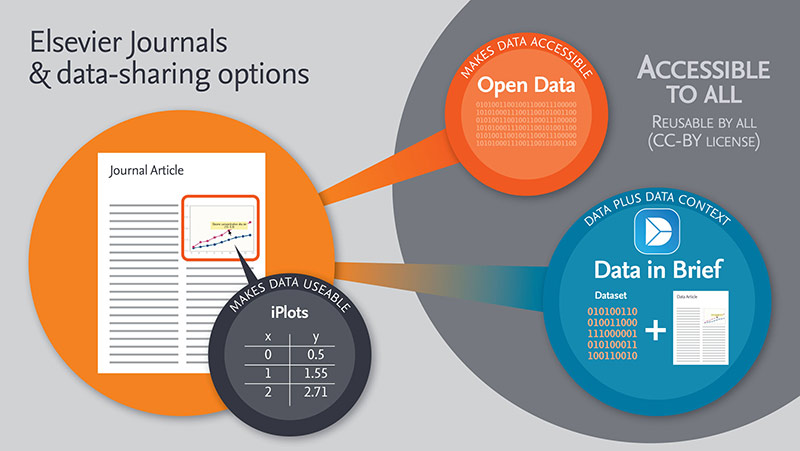 An overview of the options for data-sharing alongside articles