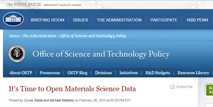 White House OSTP blog