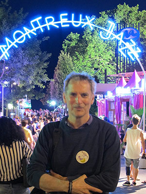The author, David Levine, at the Montreaux Jazz Festival