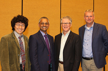 From Left to Right: Jin-Quan Yu, Shankar Balasubramanian, Peter B. Dervan, Thomas Carell