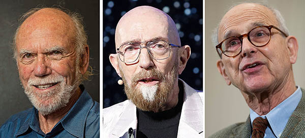 Barry C. Barish, Kip S. Thorne and Reiner Weiss (Credit: ANP)