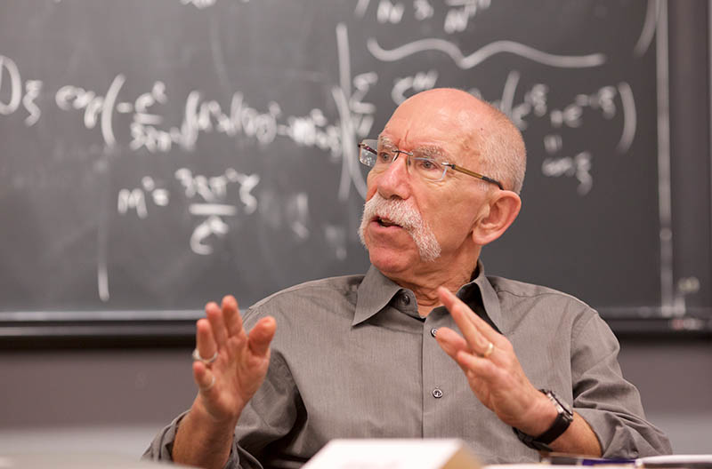 Dr. James Alt, Emeritus Professor of Government, started the center that is now the Institute for Quantitave Social Science at Harvard. (Photo by Alison Bert)