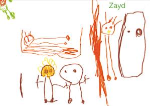 La mort déssinée par les enfants - Dessin de Zayad