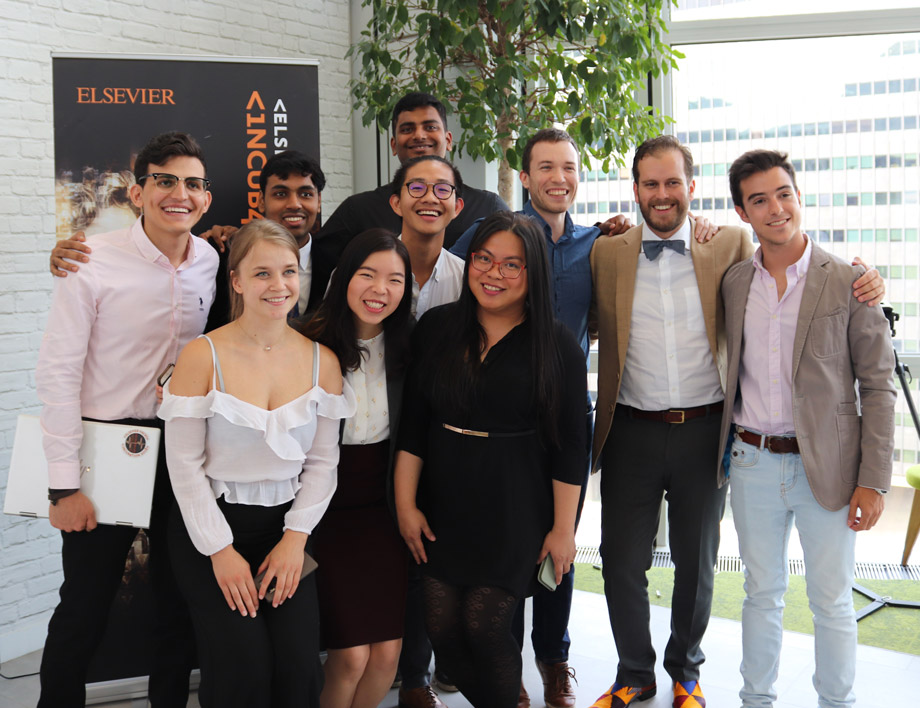 Elsevier Hacks Incubation 2018 Demo Day Group Photo