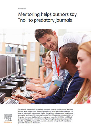 "White paper: Mentoring helps authors say ""no"" to predatory journals"