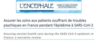 Soins Troubles psychiques pendant SARS-CoV-2